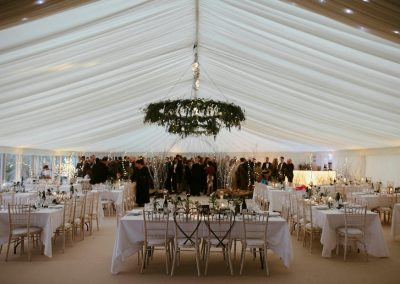 Full Room shot of NYE Wedding by Blast EVent Hire