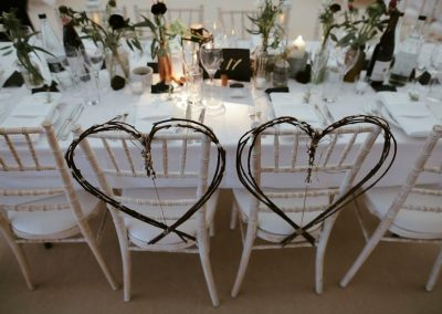 Heart Chivari Chairs supplied by Blast Event Hire