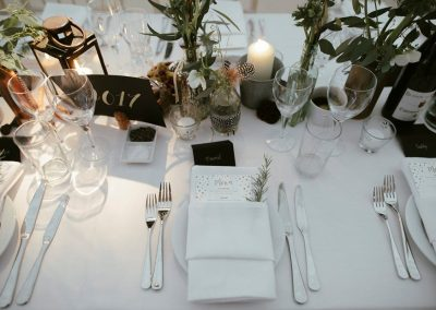 Crockery, cutlery and glassware supplied by Blast Event Hire