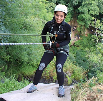 Emily Tolley Abseiling for charity