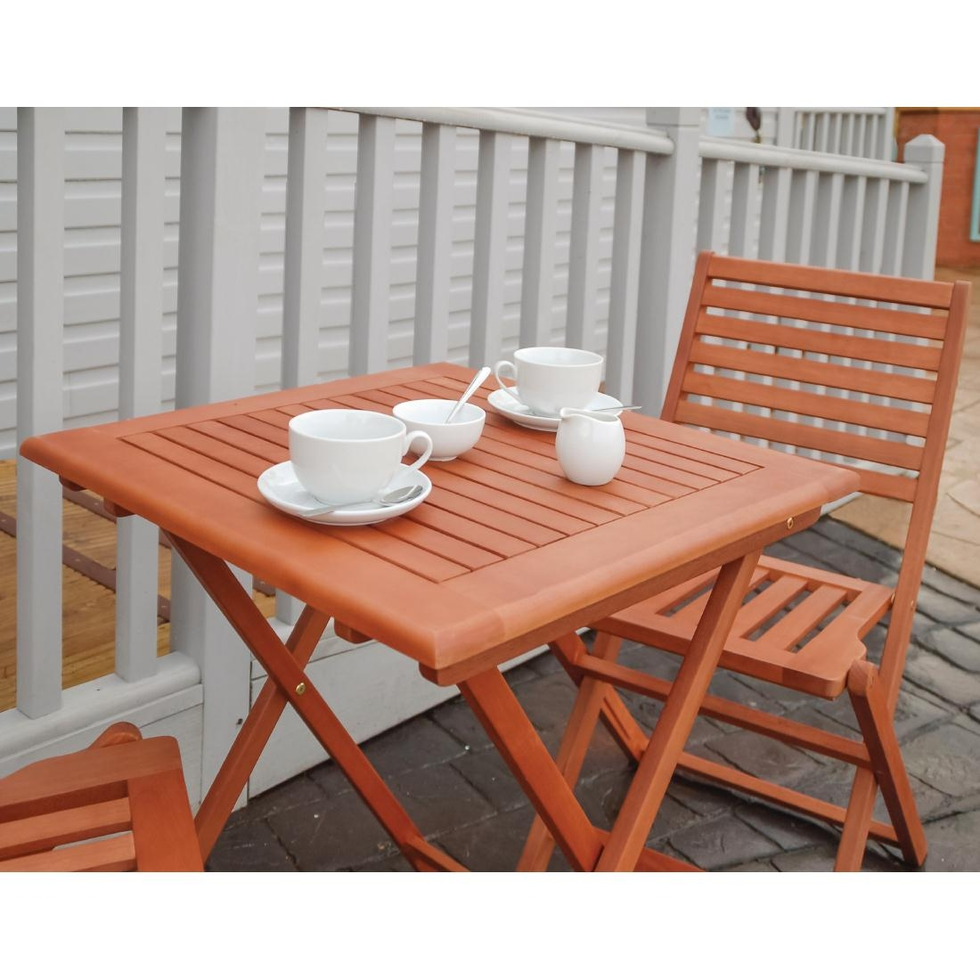 Outdoor wooden bolero squaretable
