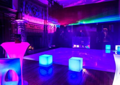 LED Light Up Furniture at an Event with Stage and DJ
